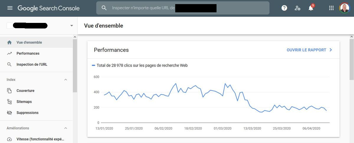 Referencement site web Google Search Console