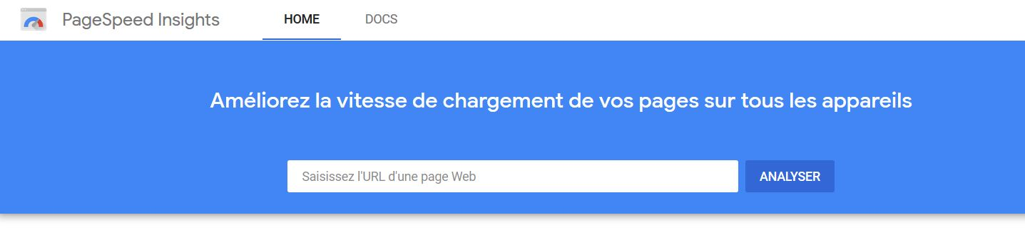 Outil Google Pagespeed Insights referencement